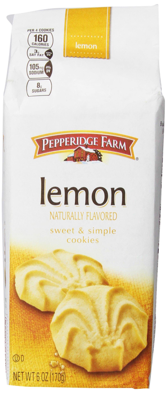 Pepperidge Farm Lemon Cookies, 6 Ounce (Pack of 8)