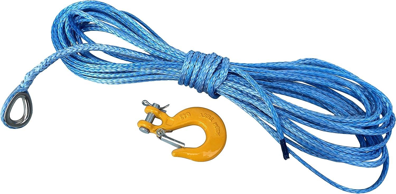 sint/éticos cuerda 5/mm 15/m para cabestrante de ATV Quad de Dyneema SK78/de pl/á