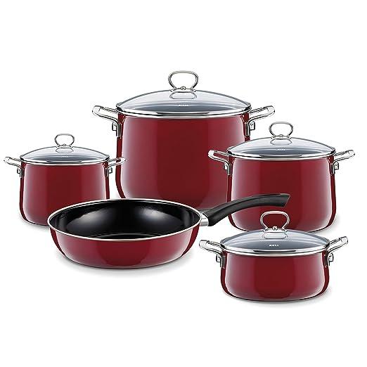 Riess - Batería de cocina (5 piezas) Rosso - Batería de ...