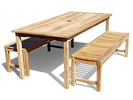 Amazoncom Windsors Premium Indonesian Plantation Grade A Teak - Teak picnic table with benches