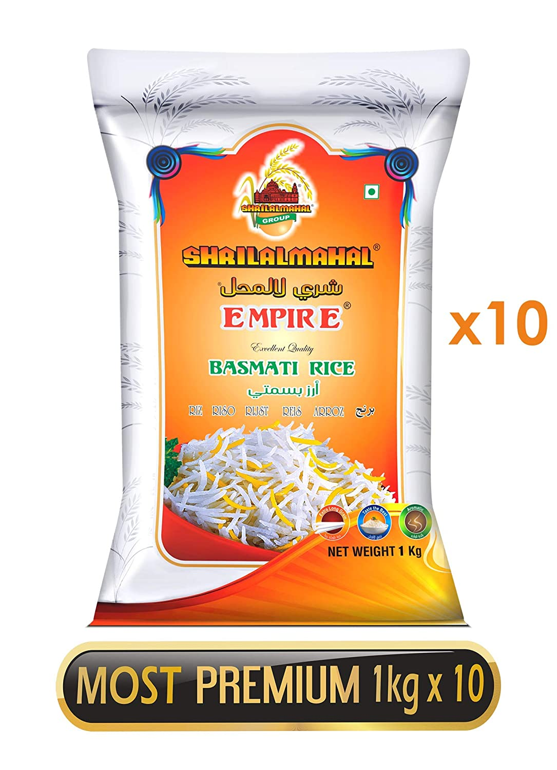SHRILALMAHAL Empire Basmati Rice, 10Kg
