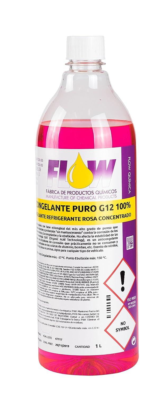 FLOW QUÍ MICA ANTICONGELANTE REFRIGERANTE G12 Puro 100% Rosa 1L x 3 FLOW QUÍMICA S.L.
