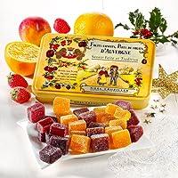 Cruzilles - Pâtes de Fruits d'Auvergne, Pavés Assortis Boite Métal Jaune 330G