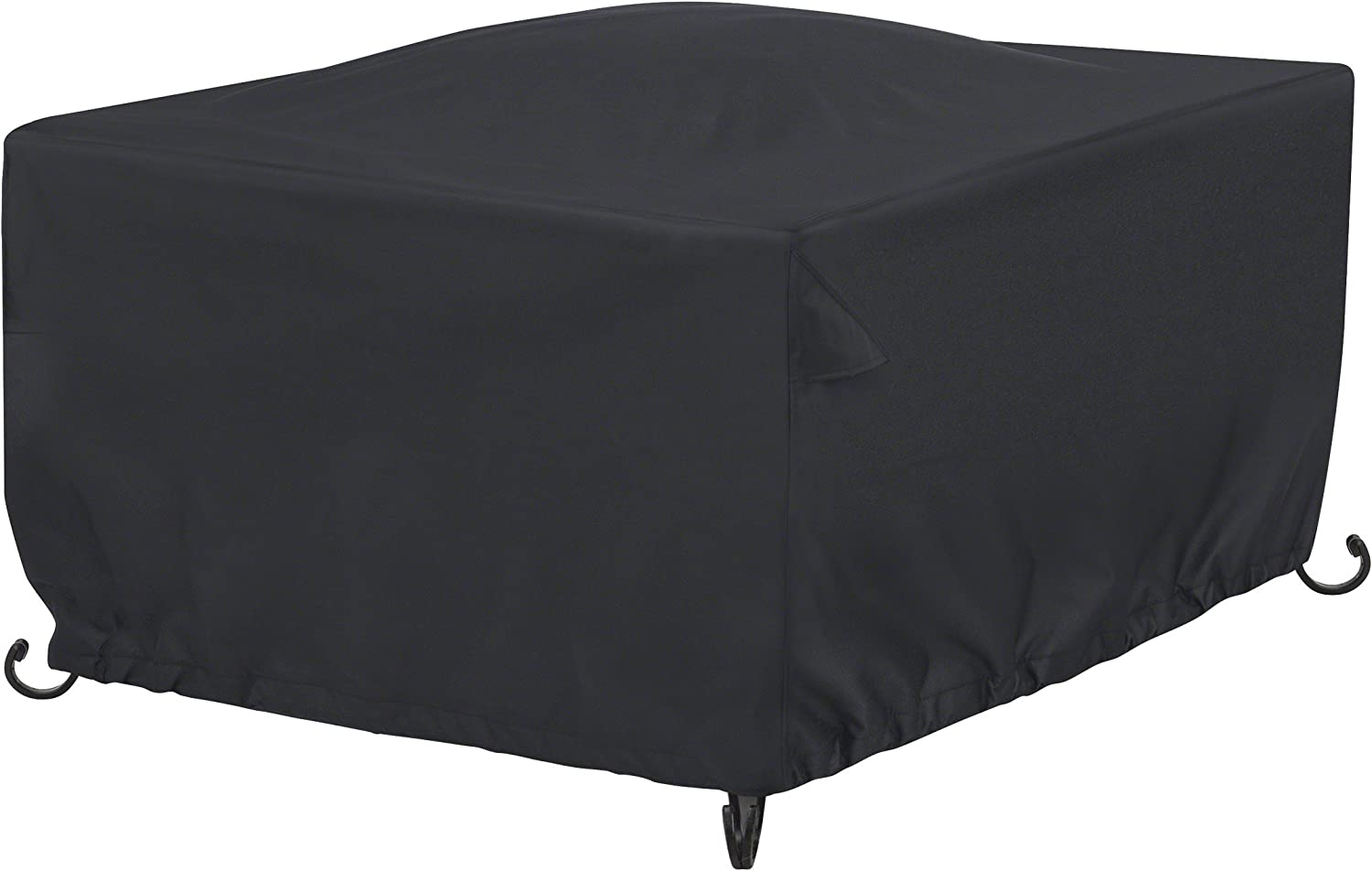 B071DNM4NK AmazonBasics Outdoor Square Patio Fire Pit or Table Cover, 42 Inch, Black 81RpipZby7L