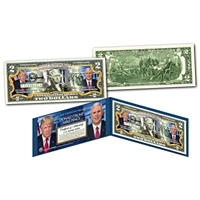 DONALD TRUMP & MIKE PENCE Pres/VP * OFFICIAL PHOTOS * Legal Tender US $2 Bill: Everything Else