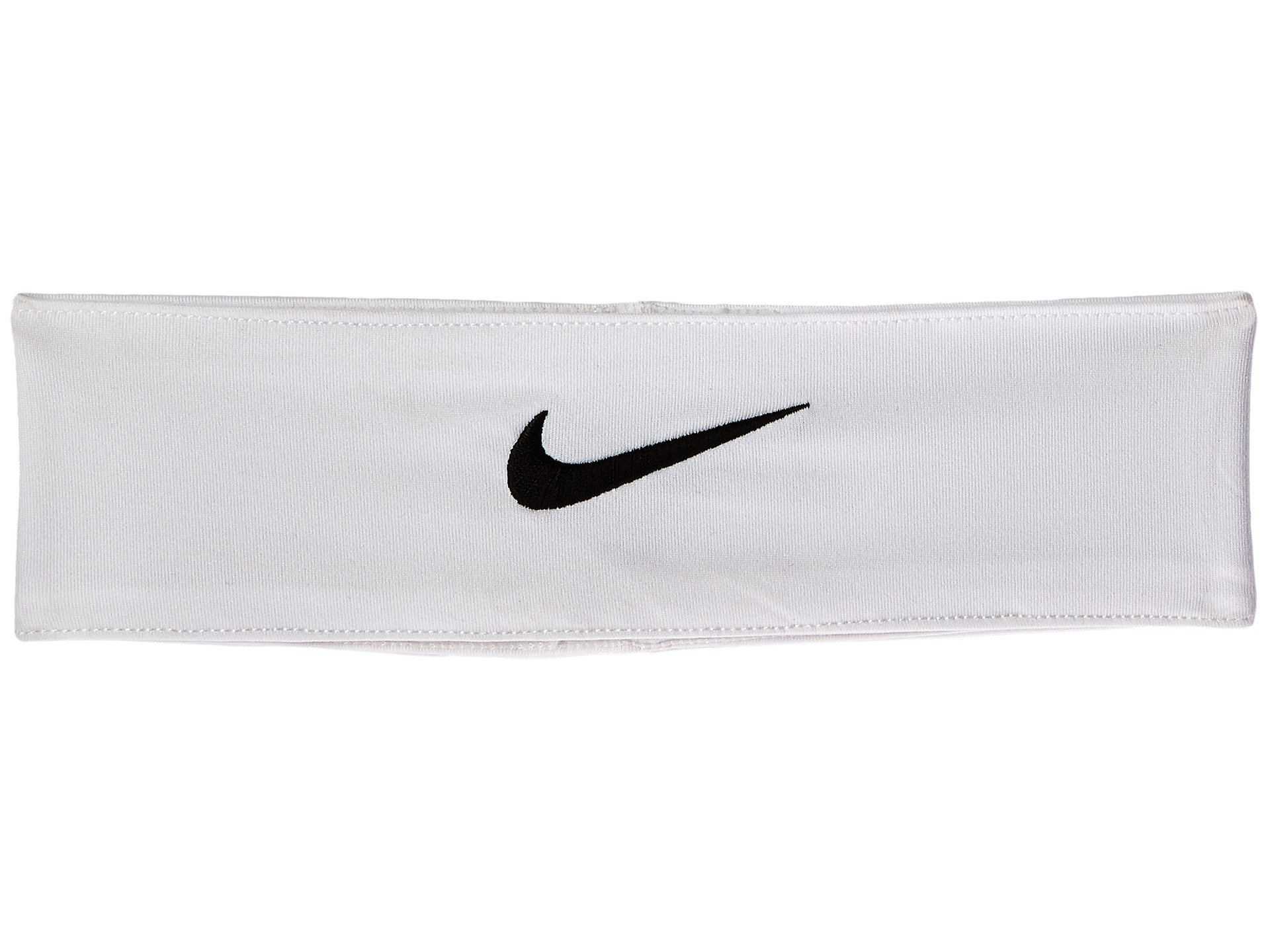 Nike Fury Headband (One Size Fits Most, White/Black) by Nike