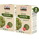 Explore Cuisine Organic Edamame Spaghetti (2 Pack) - 8 oz - Easy to Make Gluten-Free Pasta - High in Plant-Based Protein - US