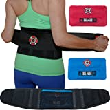 """Old Bones Therapy Lower Back Brace Support Belt - Lumbar Support Belt for Men and Women - Bonus Heat & Ice Pack Included, Best for Back Pain Relief (XXL, Fits 43 - 54"""")"""