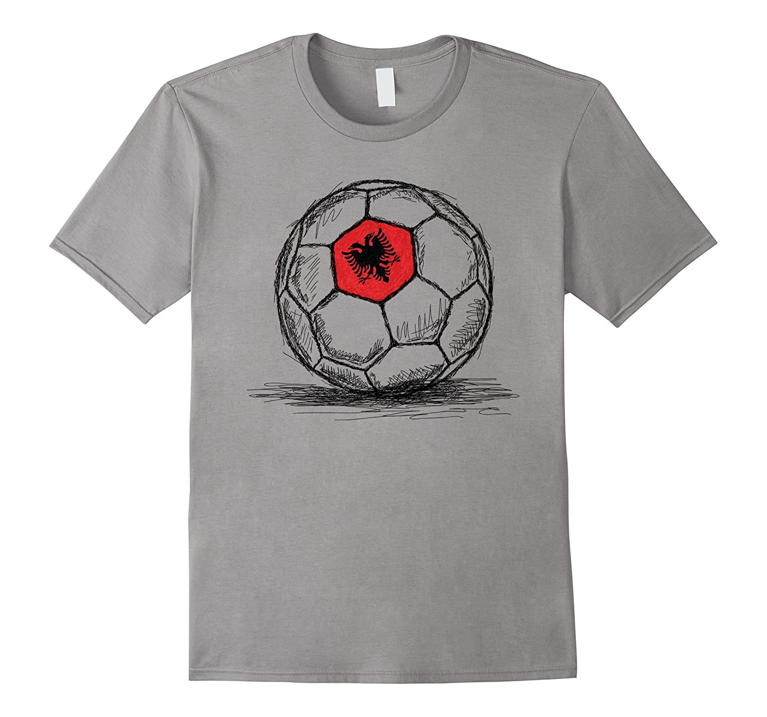 Albania Albanian Soccer Football Jersey Flag Team T-Shirt-Art