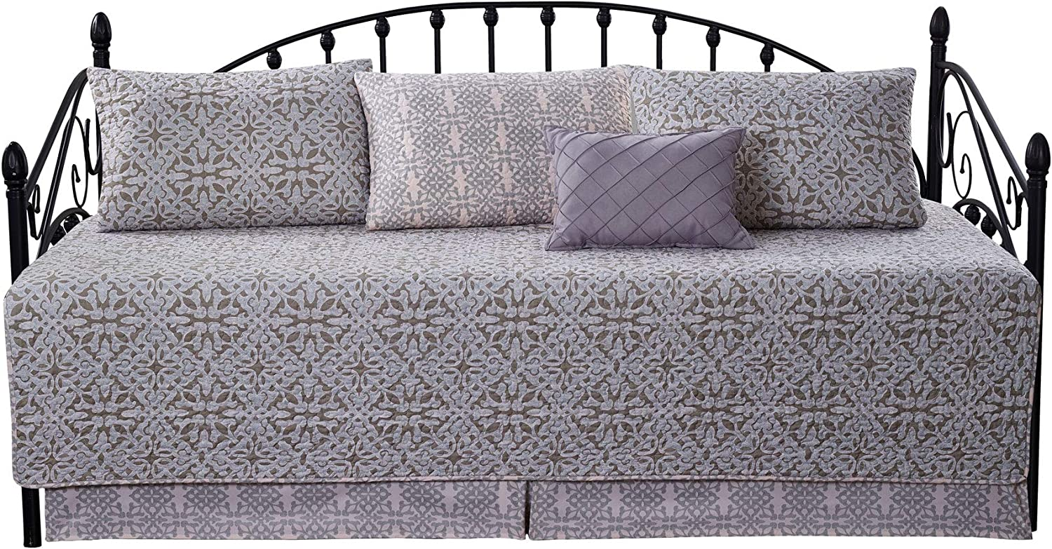 "Home Soft Things Serenta Bellamy 6 Piece Quilted Daybed Set, 75"" x 39"""