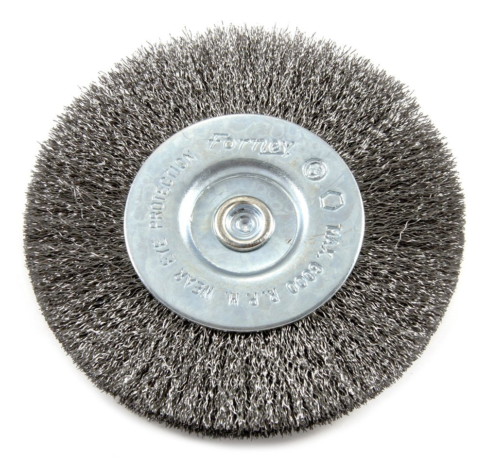 Amazon.com: Forney 72740 Wire Wheel Brush, Fine Crimped with 1/4 ...