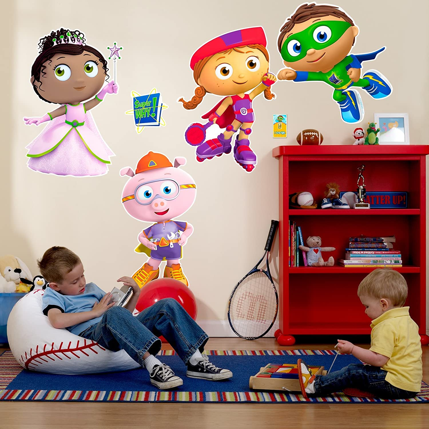 Amazoncom Super Why Room Decor Giant Wall Decals Toys Games - Spongebob room decals