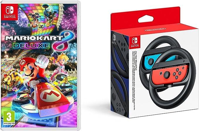 Mario Kart 8 Deluxe + Switch Joy-Con Wheel (Volante): Amazon.es ...