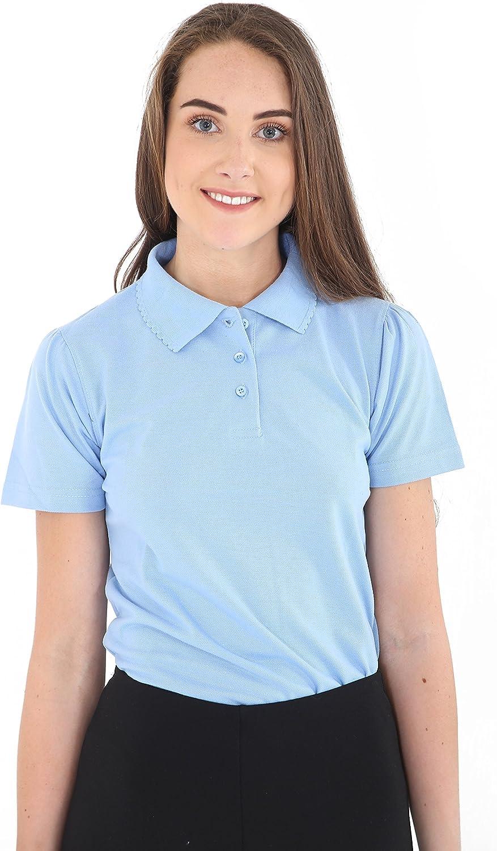 GW CLASSYOUTFIT/® 2 X *Girls* Kids Plain Pack of 2 Polo Tee T-Shirt School Shirts Uniform PE Top Gym Tops