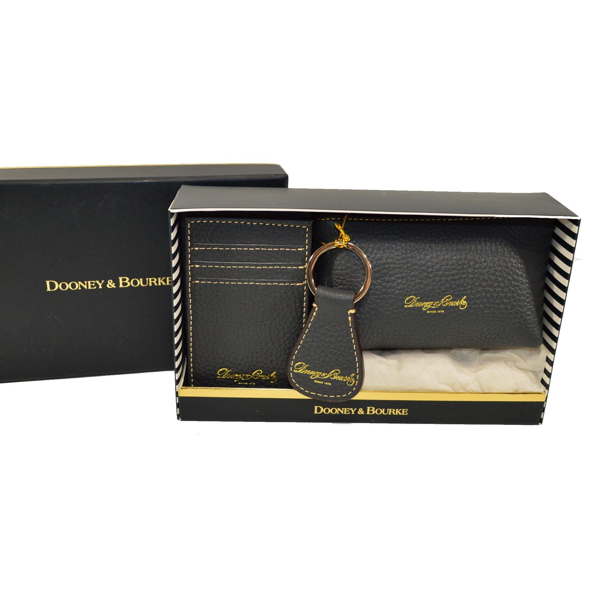 Dooney & Bourke Pebble Leather 3 pc boxed gift set Dark Grey