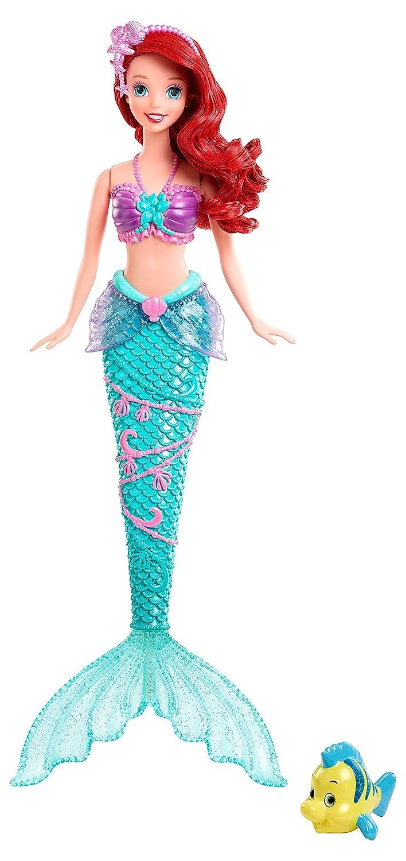 Amazon.es: Disney Frozen - Muñeca Ariel festival acuático (Mattel X9396): Juguetes y juegos