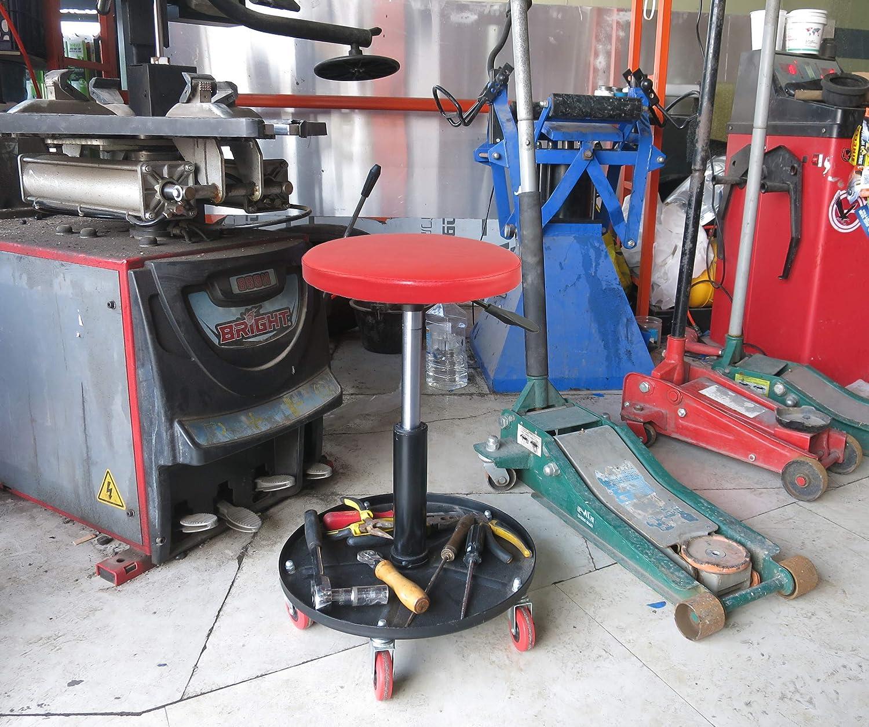 mechanisch verstellbar pneumatisch Rot und Schwarz CASTOOL Rollstuhl