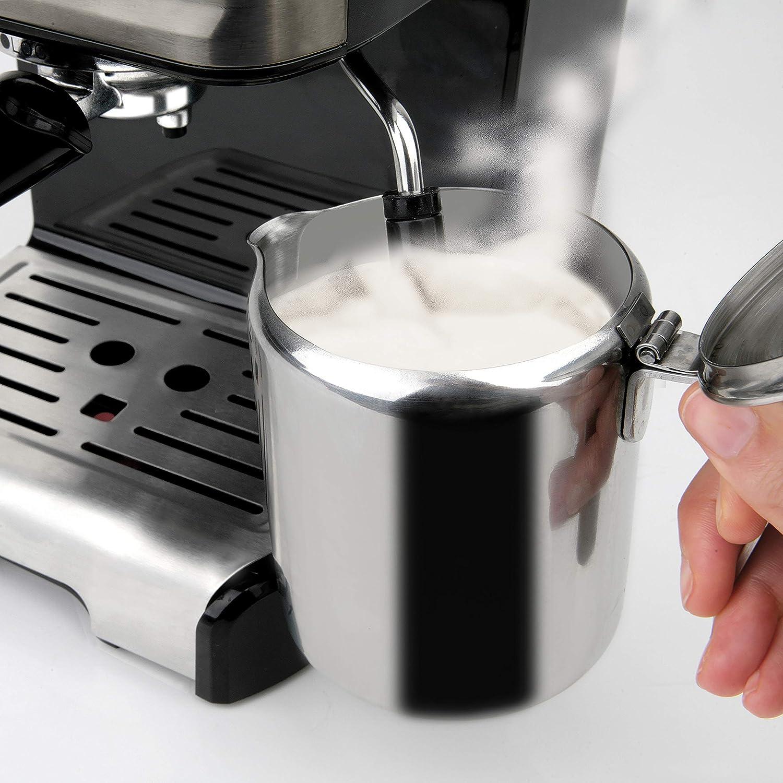 Nero Acciaio Inossidabile Black+Decker BXCO1200E Macchina caff/è Espresso