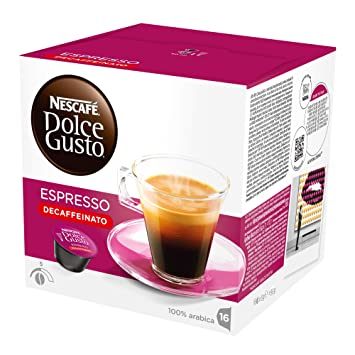 NESCAFÉ Dolce Gusto ESPRESSO DECAF 16 Pods Dolce Biscuit Box