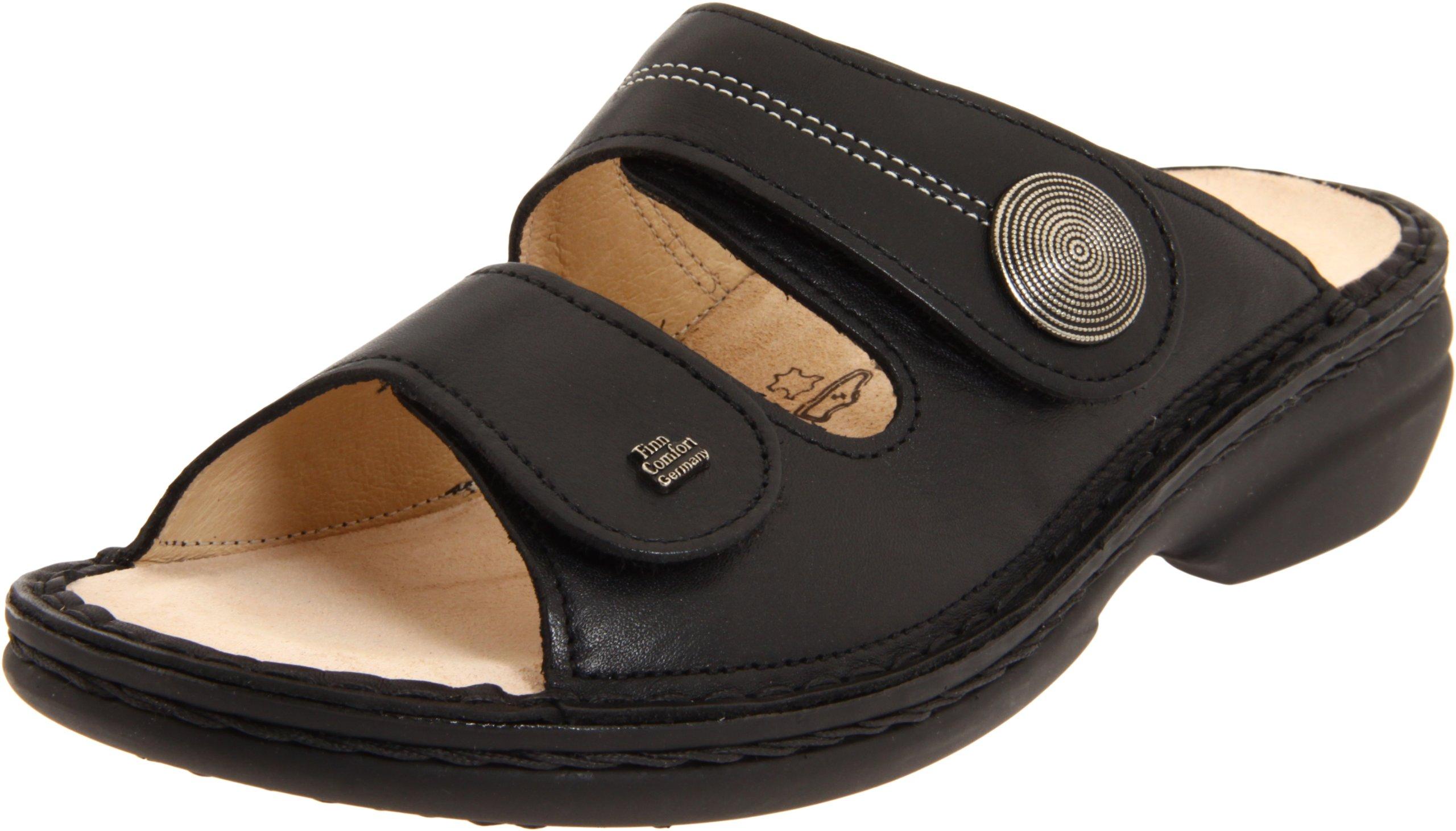 Finn Comfort Sansibar-82550, Black Nappa 35 (US Women's 4.5-5) Medium