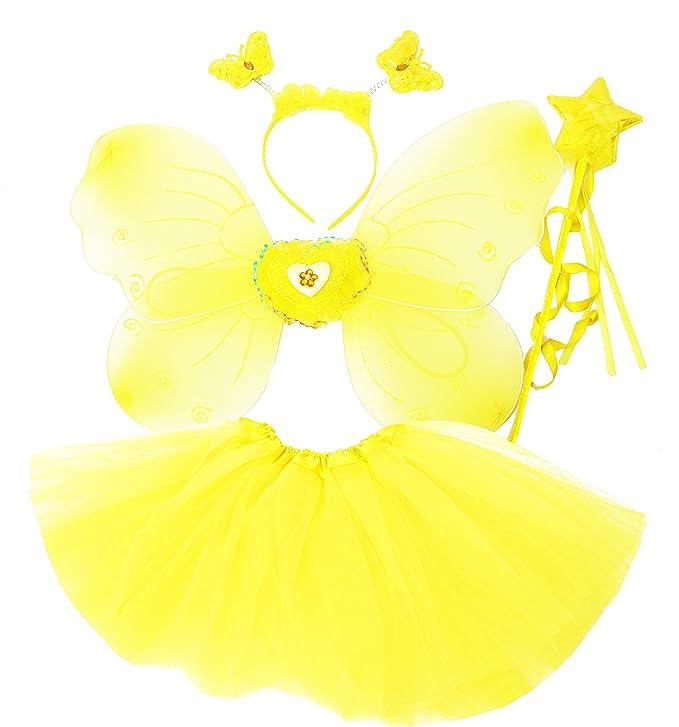 Fun Play Rosa hada disfraz - alas de mariposa niña por 3-8 años - alas de la mariposa, Tutú, Varita mágica y diadema establecen: Amazon.es: Juguetes y ...