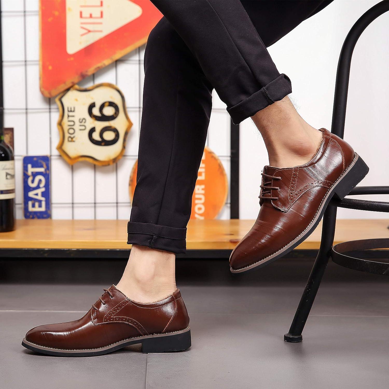 Zapatos Oxford Hombre Brogue Cuero Boda Negocios Calzado Vestir Cordones Derby Negro Marron Azul Rojo Amarillo 37-48EU