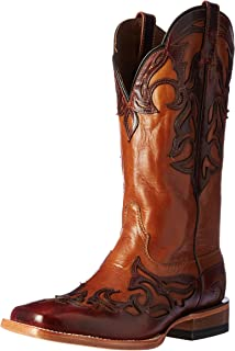 Women's Cassidy Western Cowboy Boot Biker Brown 7 B US