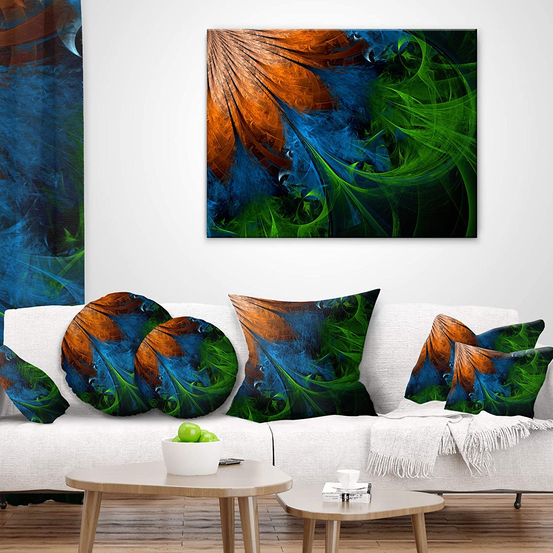 Kess InHouse Famenxt Colorful Vibrant Mandala Rainbow Geometric 23 x 23 Square Floor Pillow