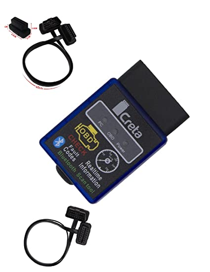 Creta OBD2 OBD ELM327 Scanner Check Engine Light OBDii Bluetooth Car  Diagnostic Scan Tool For Android