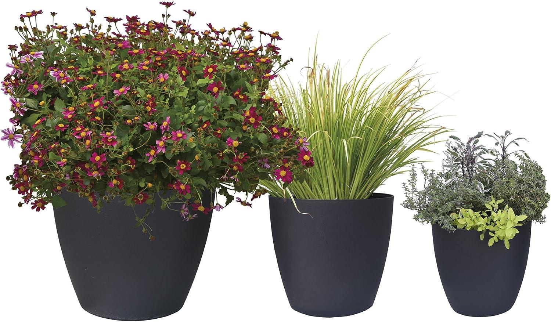 Garden Plant Pot Planter Grapes 62cm Flower Black Plant Pot Self watering
