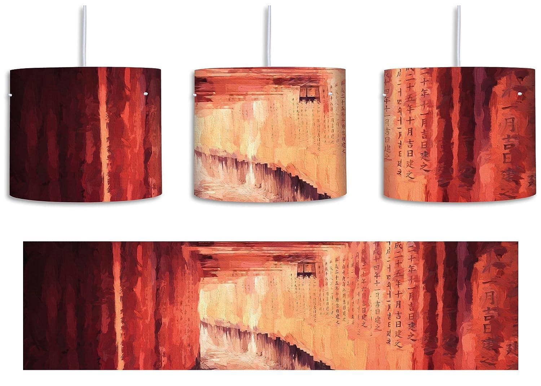 Lámpara de techo clásica con diseño de oración japonesa con ...