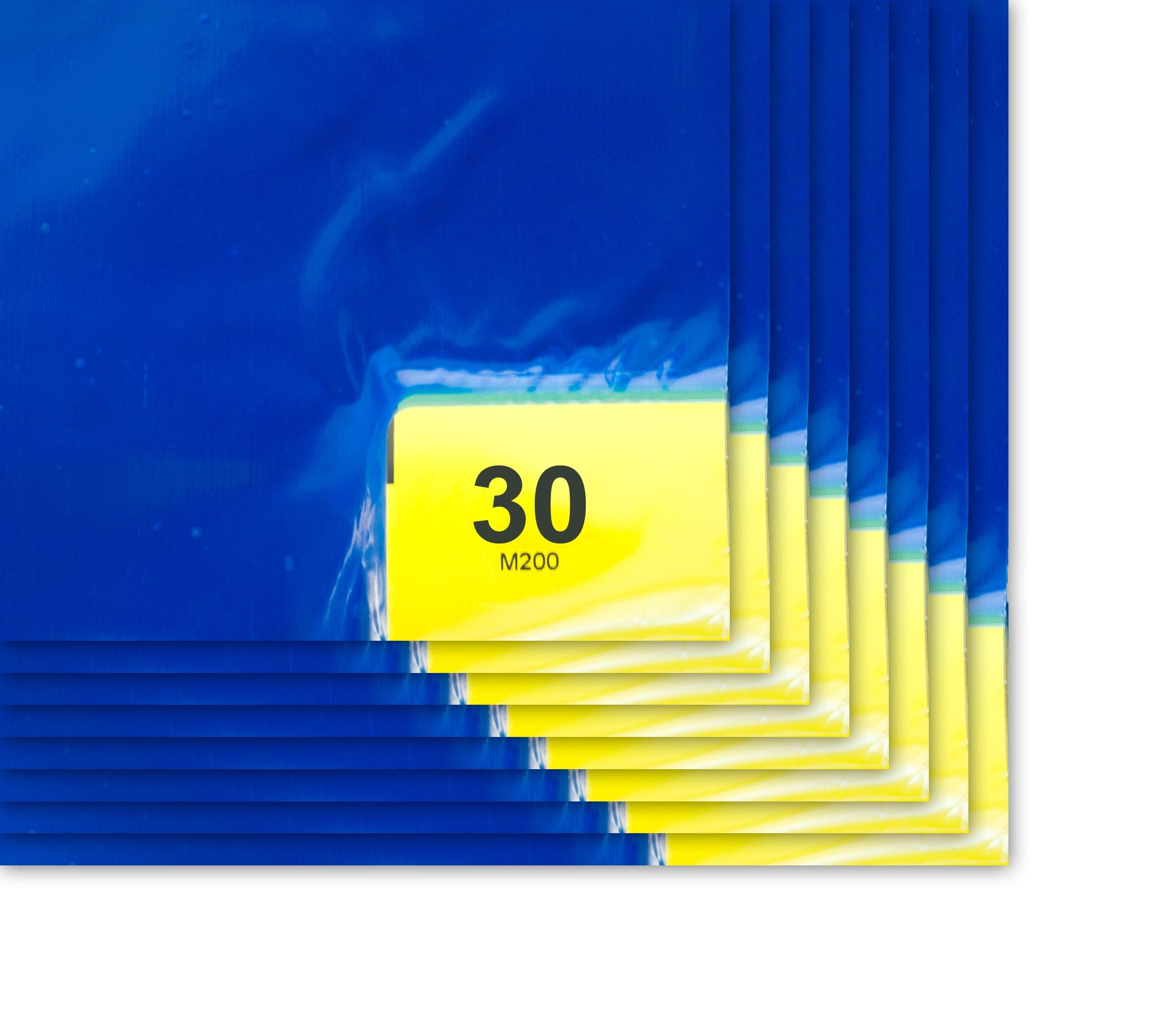 Purus PS 2436 38 B Blue 30 Layer Purus Mat, 36'' Length x 26'' Width (Case of 8 Pads, 30 Layers per Pad)