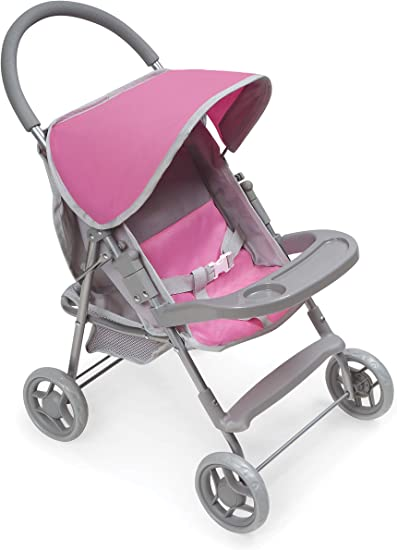 Pink Cute  doll 2 Baby Stroller Girl/'s Gift Doll Accessories In US