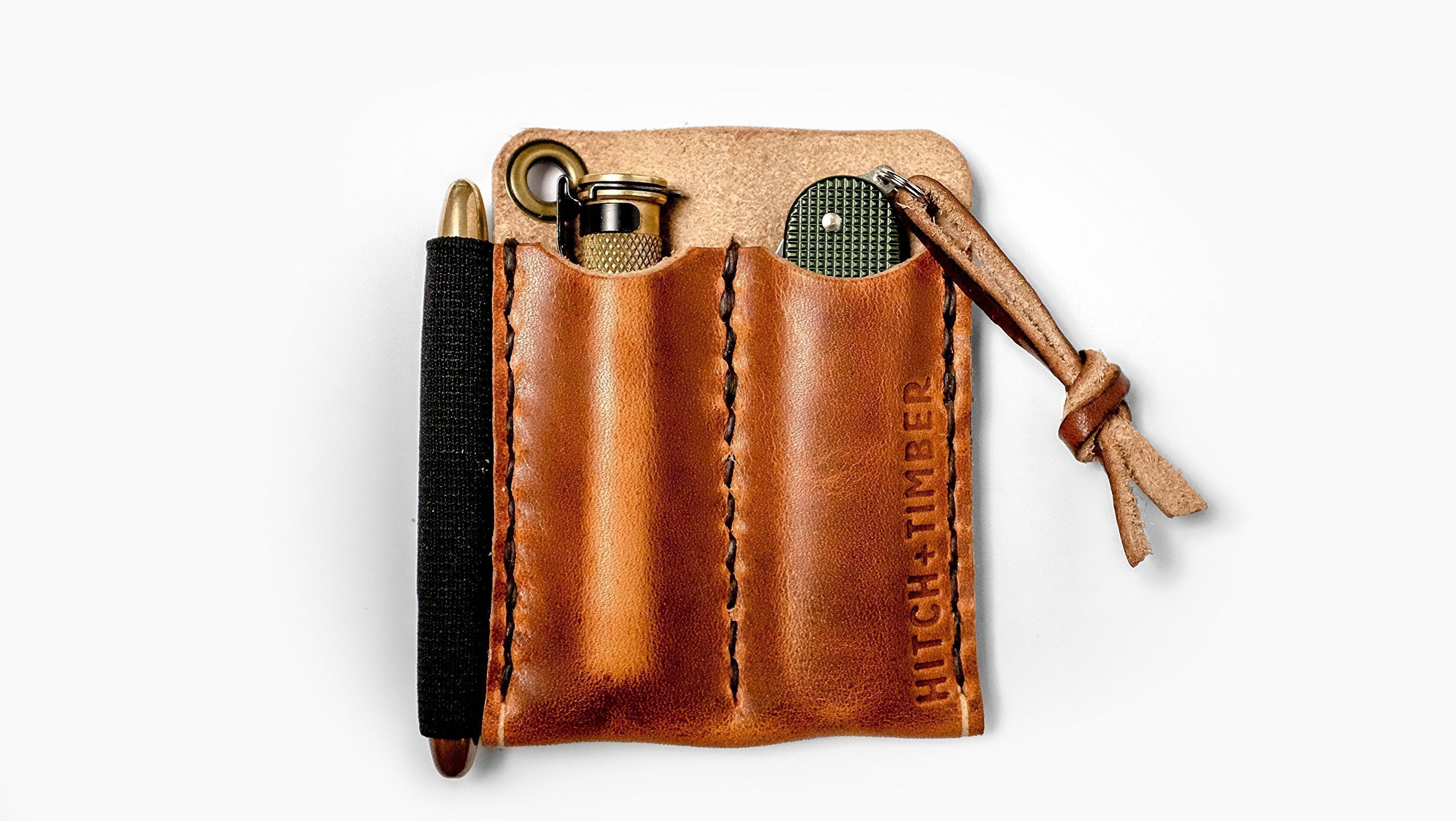 The Pocket Runt 2.0 - Double Leather EDC Slip for Everyday Carry by Hitch & Timber