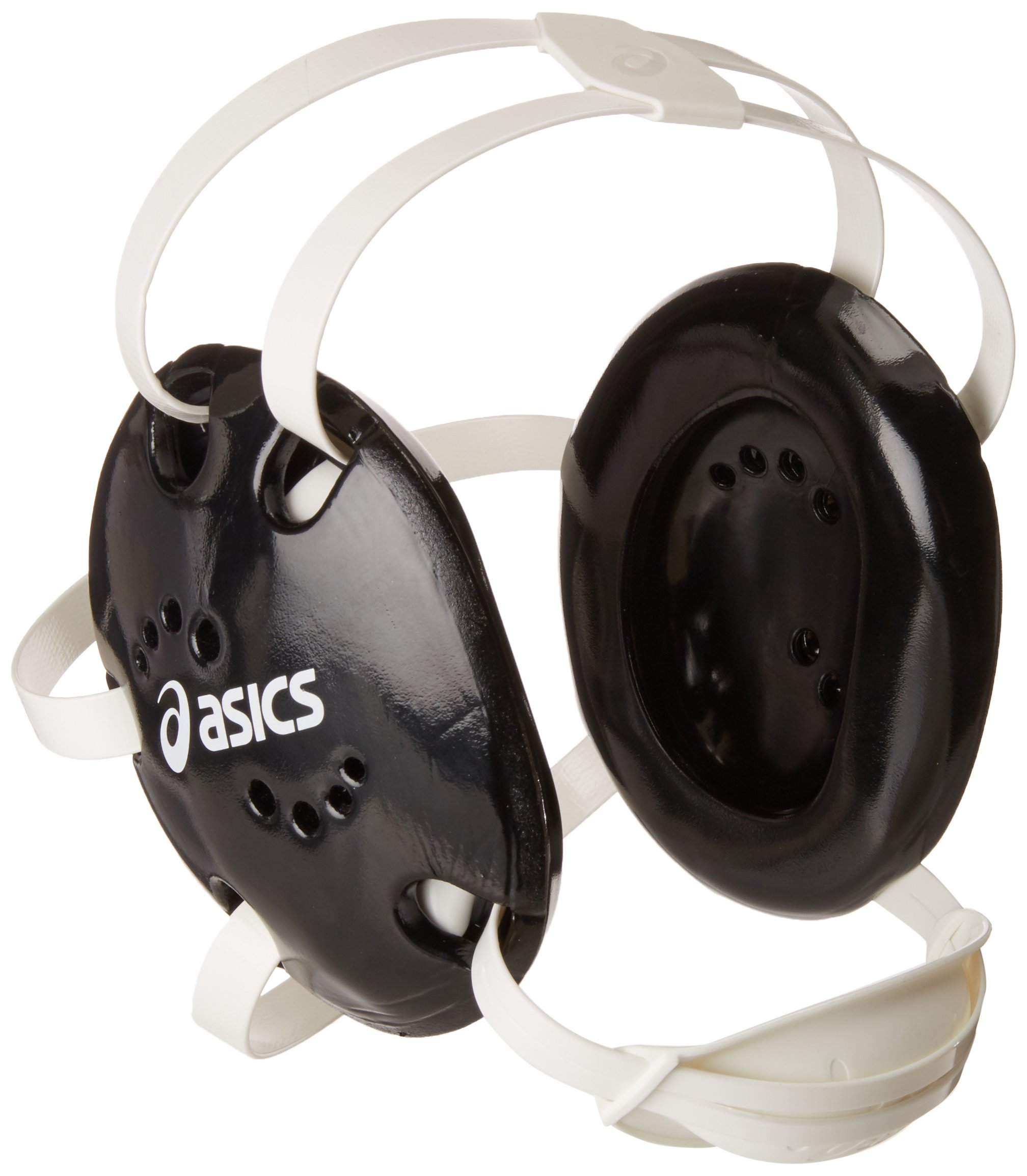 ASICS Snap Down Earguard, Black, One Size