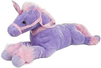 BRUBAKER Peluche suave - Unicornio - Longitud 85 cm - Púrpura - Unicornio