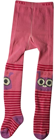 Weri Spezials Unisexe-Bebes ABS Lapin Collants Rose