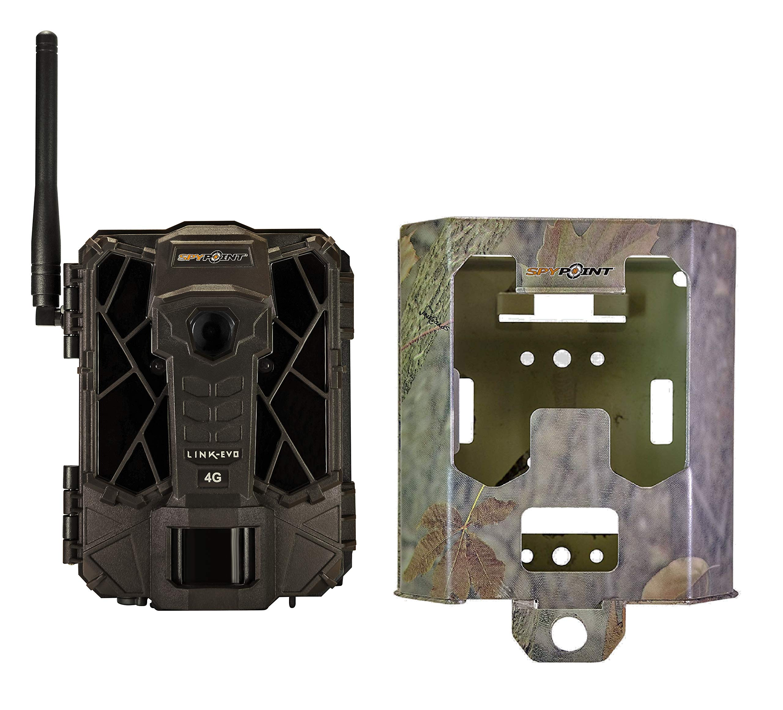 SPYPOINT Link-EVO-V Cellular Trail Camera, 4G/LTE, 12MP HD Video, High Power LEDs&Infrared Boost Tech, 0.3s Trigger Speed, 80' Detect&90' Flash, Easy Setup (Link-EVO-V + SB-200 Security Box) by SPYPOINT