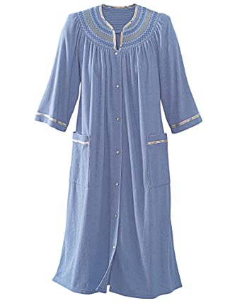 National Plaid Trim Terry Robe at Amazon Women s Clothing store  662e8ac11