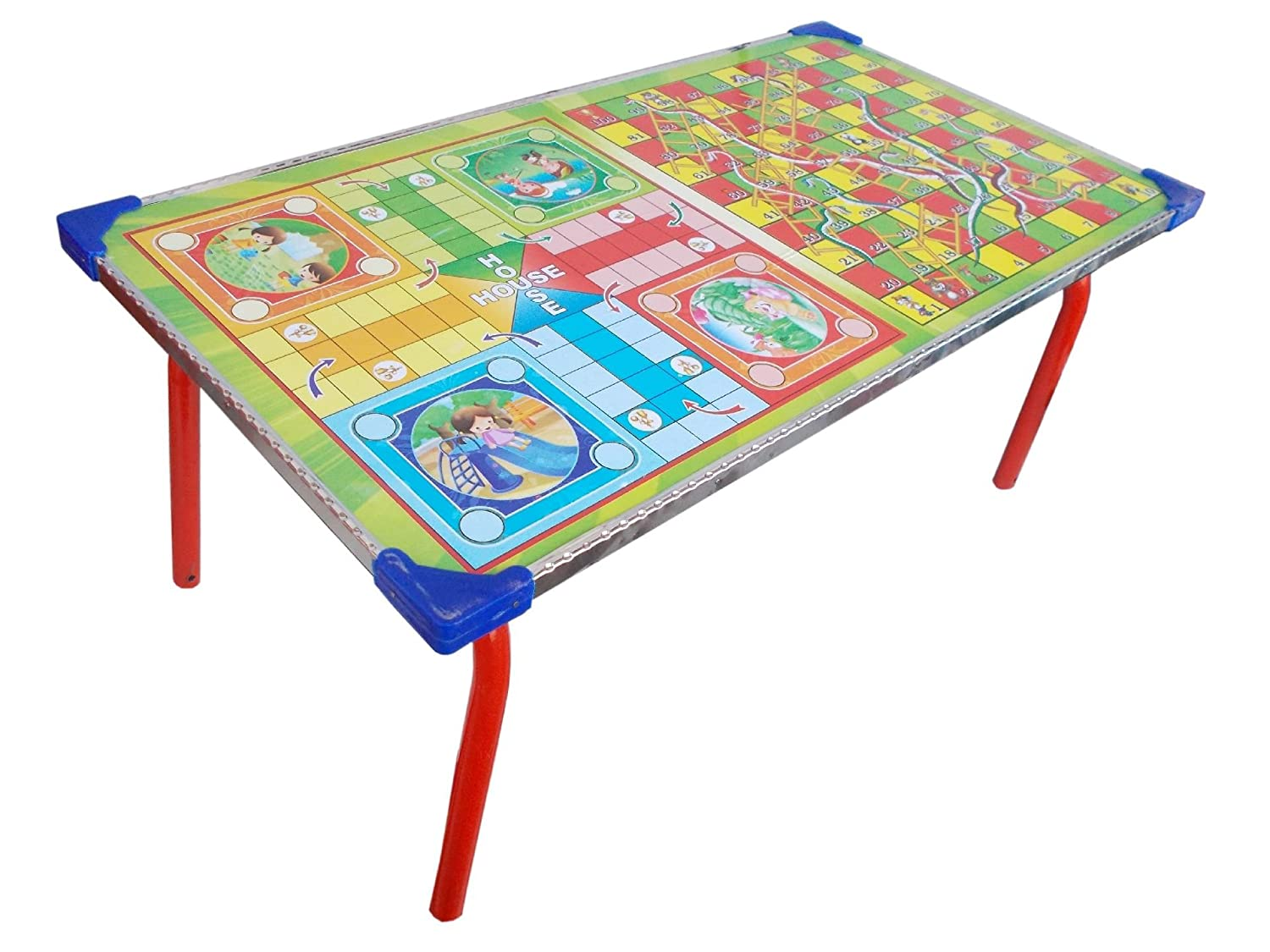 Delightful Buy Ks 2 In 1 Kids Board Game Table Ludo Snake U0026 Ladder Bed Study Laptop  Support Table Online At Low Prices In India   Amazon.in
