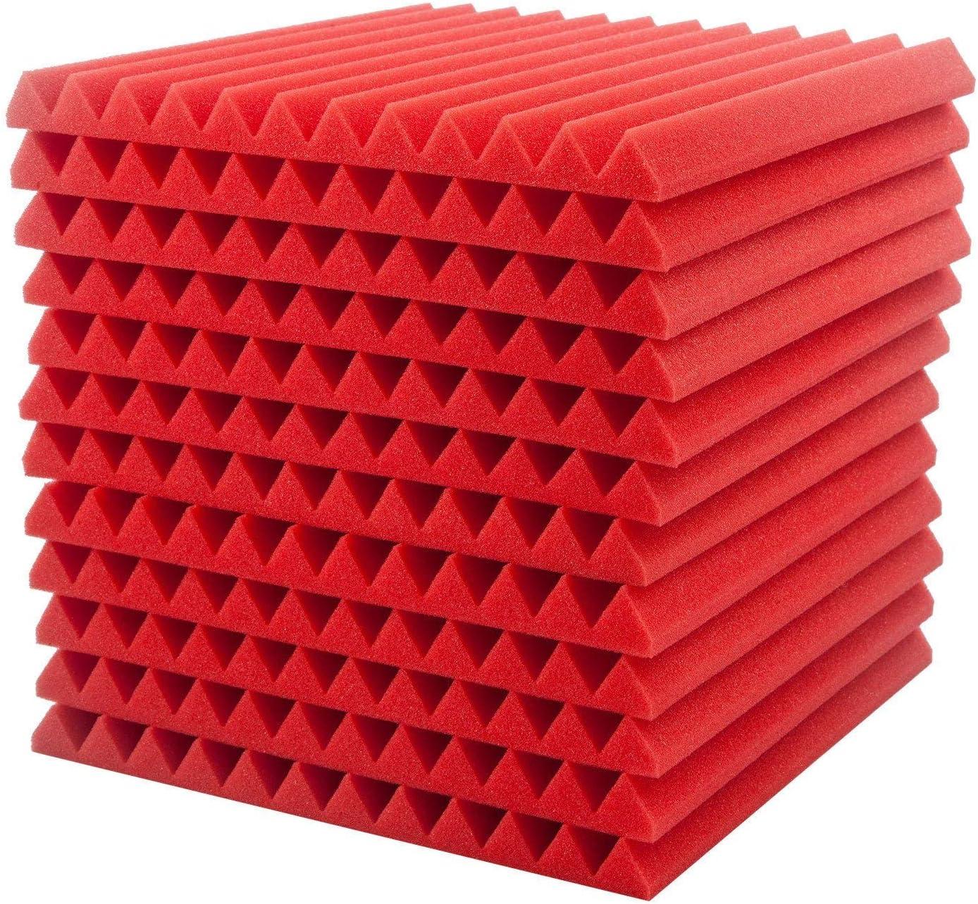 FEIDAjdzf espuma ac/ústica 12 unidades de espuma ac/ústica insonorizante 30 x 30 cm cu/ñas de estudio ac/ústico herramientas de insonorizaci/ón