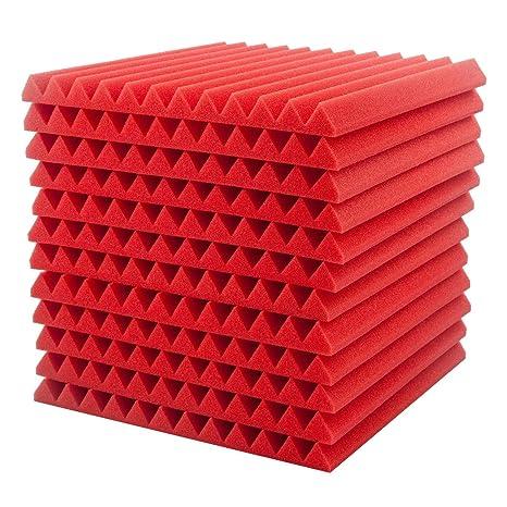 Surenhap 12Pcs Planchas de Espuma Acústica acústico de cuñas para Paneles acústicos de Aislamiento acústico,