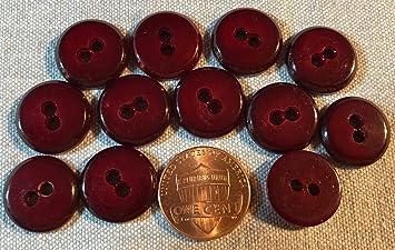 Amazon.com: 12 brillantes botones de plástico rojo para ...
