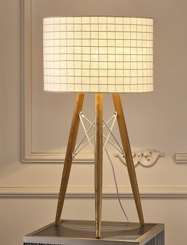White Whiteline Modern Lighting TL1486-WHT Amber Table Lamp