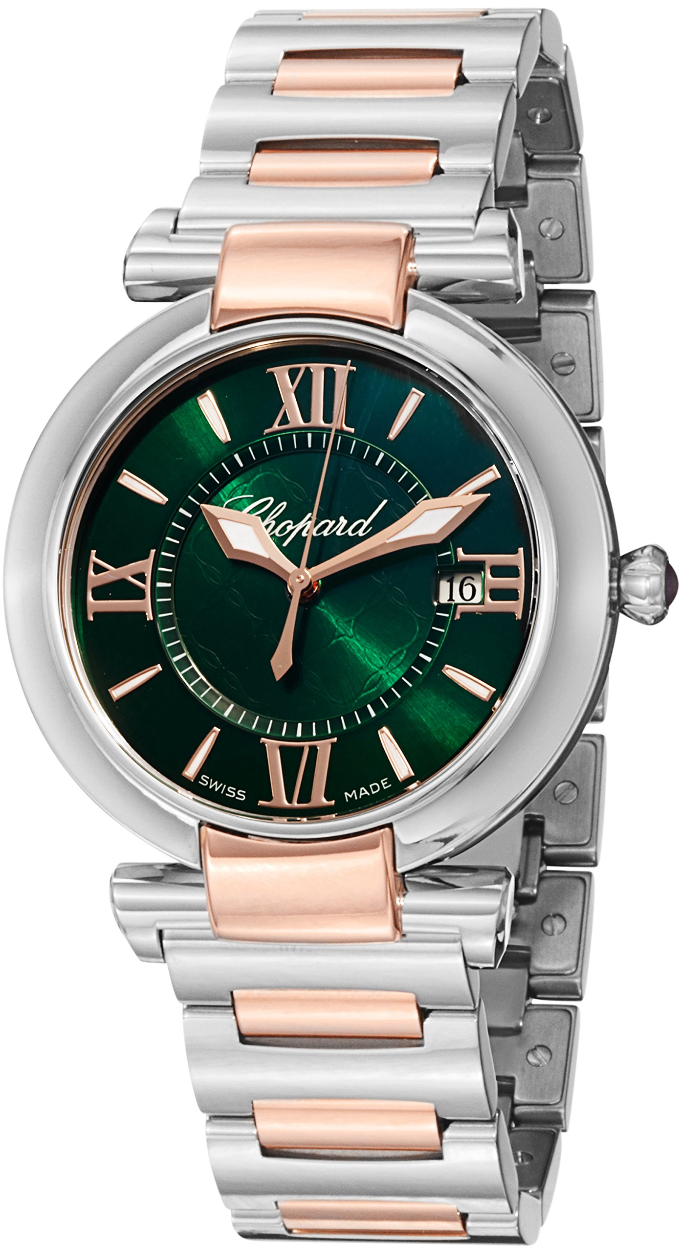 Chopard Imperiale Large Green Dial Two Tone Swiss Made Watch 388532-6007