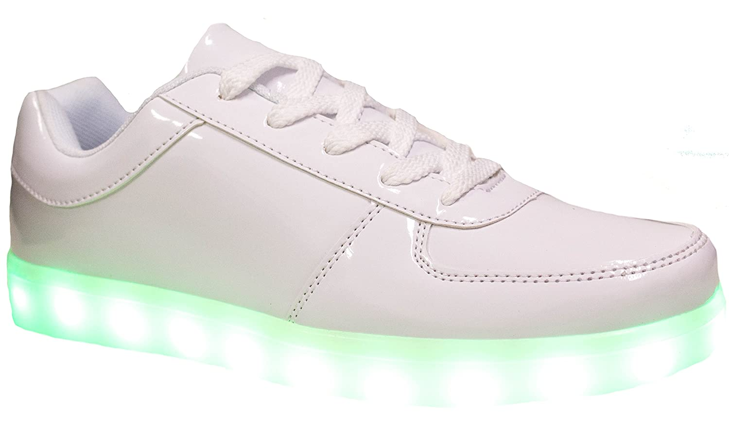 Link Shoes Girls Signal-60K LED Fashion Sneakers with Mirror Effect Style and Light Up Sole//Chargeable