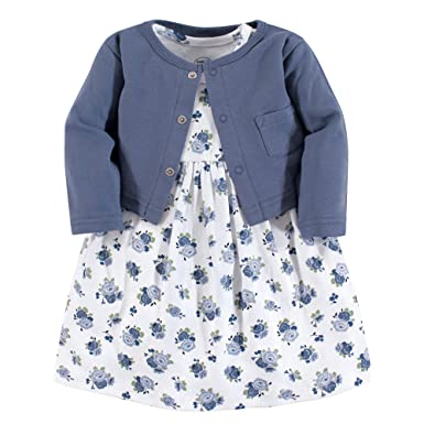 ea06dfb501759 Luvable Friends Baby and Toddler Girl Dress and Cardigan