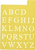 Darice 121725 Upper Case Alphabet Stencil, 3 Fonts in 1, 1-Inch