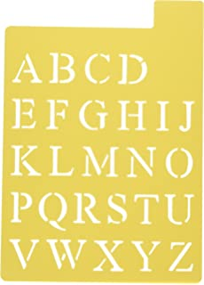 darice 121725 upper case alphabet stencil 3 fonts in 1 1 inch