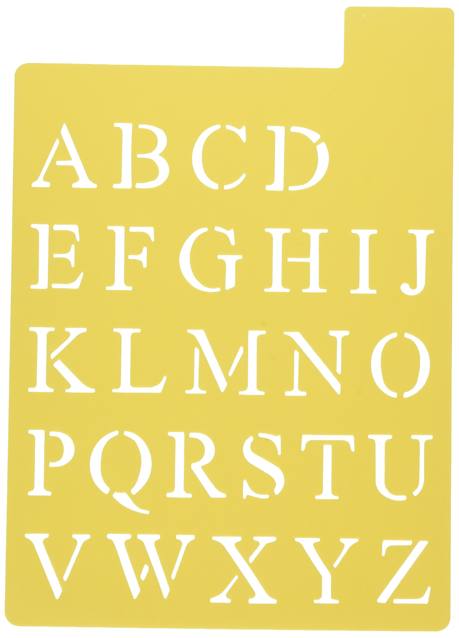 Darice 121725 Upper Case Alphabet Stencil, 3 Fonts in 1, 1-Inch by Darice (Image #1)